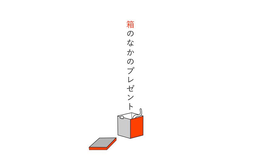 絵本「箱のなかのプレゼント」タイトル