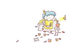 絵本「箱のなかのプレゼント」8ページ目