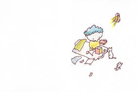 絵本「箱のなかのプレゼント」2ページ目