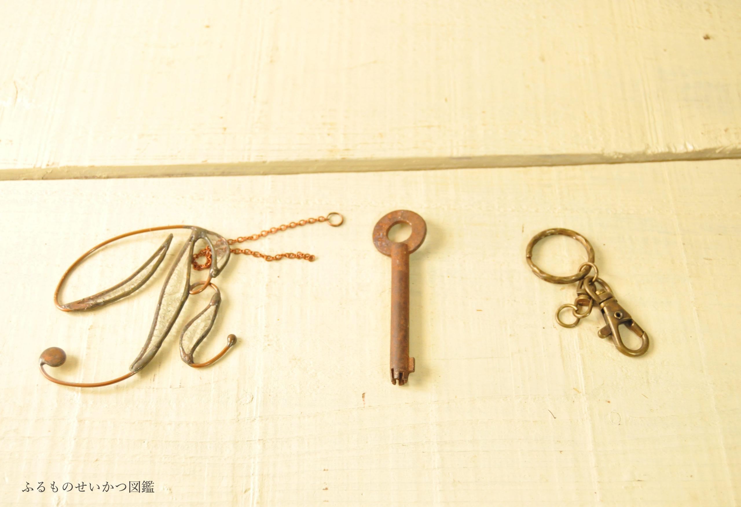 プレセントと古鍵とホルダー