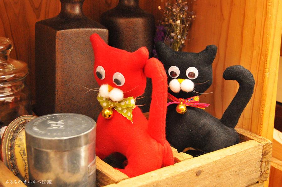 レトロ猫ぬいぐるみのプレゼントセット
