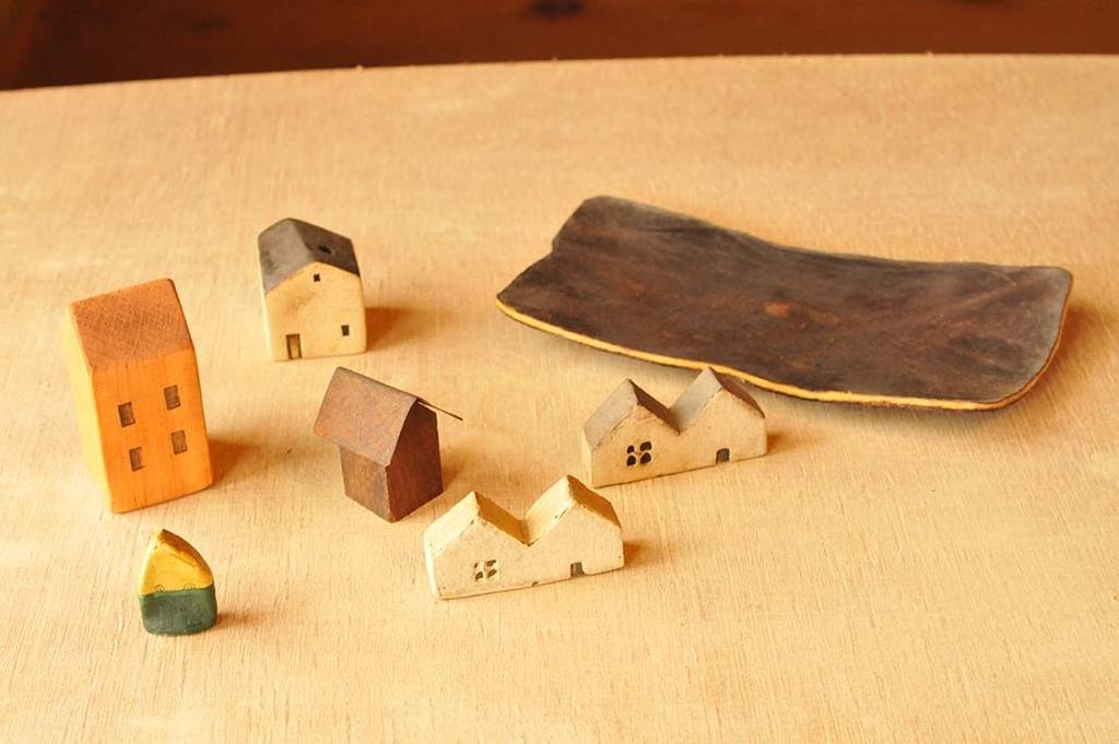 少しづつ集めた小さな家たちのコレクション雑貨