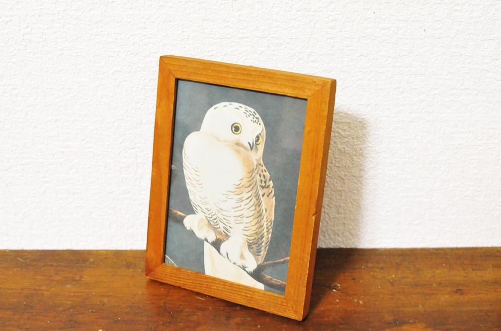 木枠が雰囲気いい53円のおしゃれ額縁-ふるものせいかつ図鑑