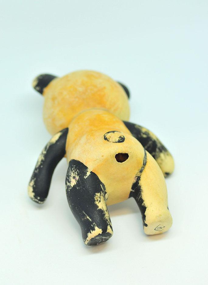 雰囲気あるシャビーな元ゴミだったパンダ人形。0円インテリアのススメ
