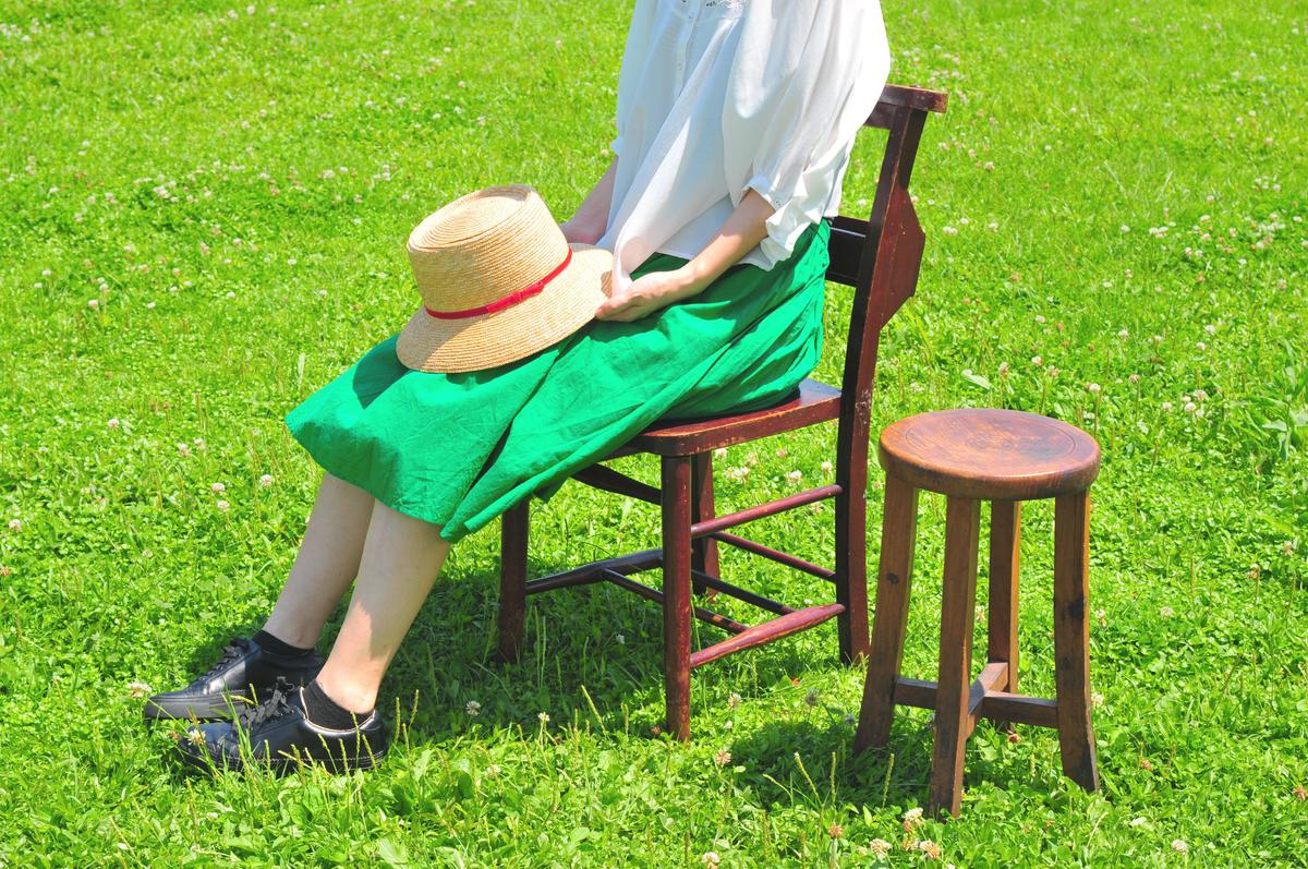 古道具の椅子はチャーチチェアでもらいもので0円-ふるものせいかつ図鑑