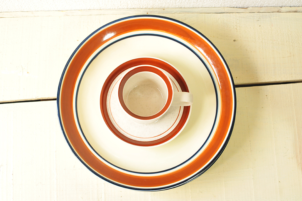 レトロ食器の20円のカップと50円のお皿-ふるものせいかつ図鑑