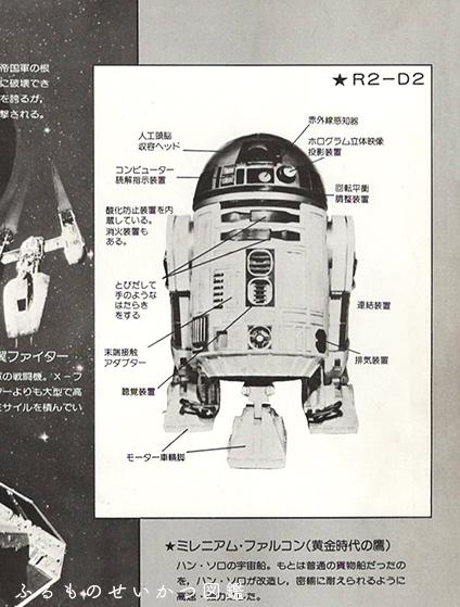 スターウォーズのパンフレットR2D2の説明は細かくオモシロイ