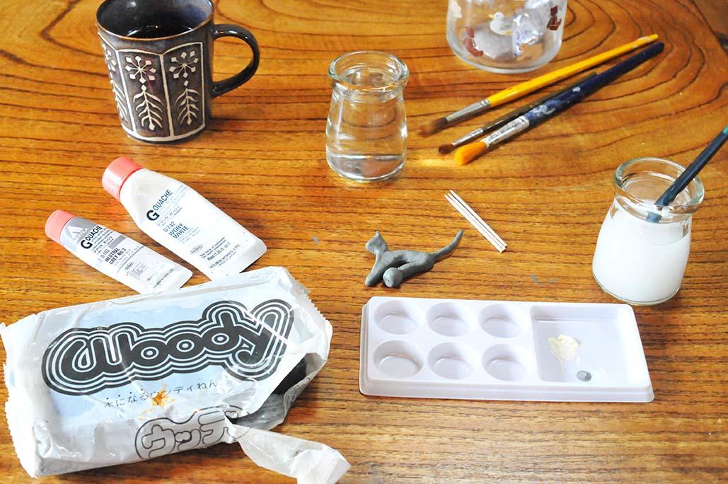 DIY ウッディー粘土でオシャレな動物雑貨を楽しく工作