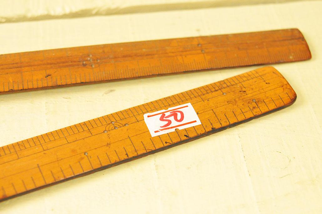 50円の古道具の木製ものさし