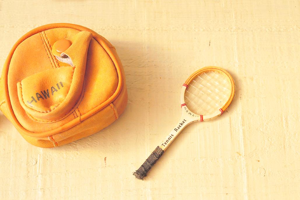 ハワイ土産のコインケースはテニスラケットが取り外せて可愛い