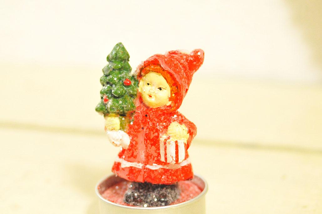 クリスマスキャンドルをリサイクルショップで集める